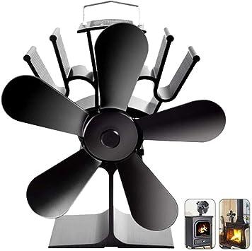 Ventilador Estufa 5 Palas Alimentado Calor,Ventilador Estufa Leña ...