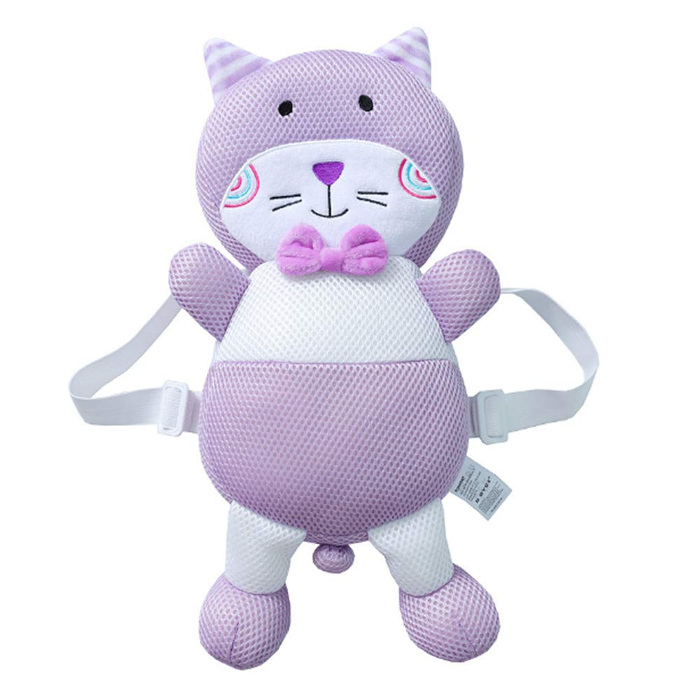 DierCosy Baby head protector baby child head safety pad cushion baby back protection to prevent infant injury suitable for age 4-24 months purple cat