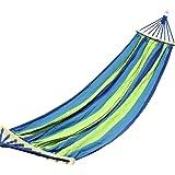 Domon ハンモック ロープと収納袋付き1人用&2人用 ブルー (ブルー, 150cm)