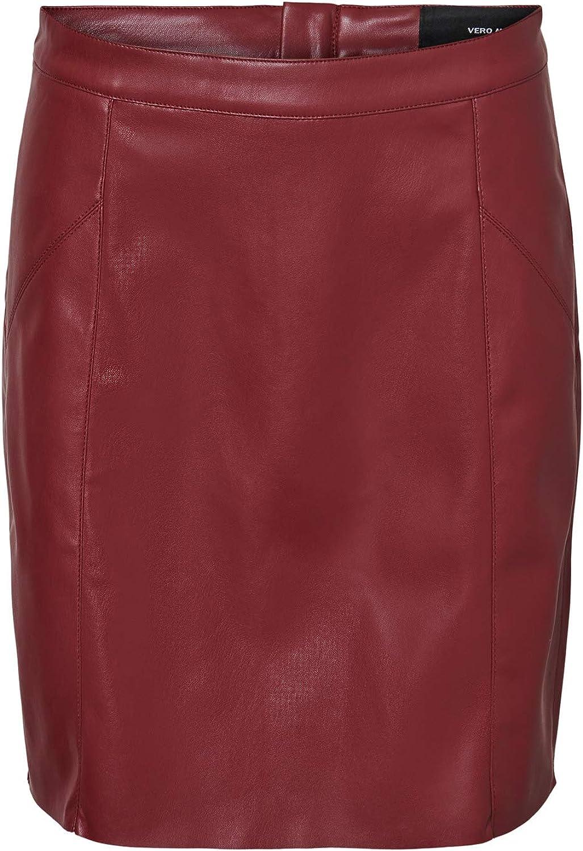 Vero Moda Vmnorario Short HW Coated Skirt Noos Falda para Mujer