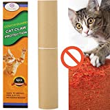 G GEEKEEP Pet Couch Protector – 4 Pieces Clear Self-adhesive Couch Guard & Cat Scratching Furniture Protector, Dog Cat Claw Guard for Sofa,Walls,Doors (Extra Tape and Pins)