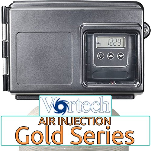 Air Injection Gold 10 with Fleck 2510SXT Vortech Tank and 1'' Bypass - AIG10V-25SXT-34 - For Iron Hydrogen Sulfide Rotten Egg Odor Manganese by AFWFilters