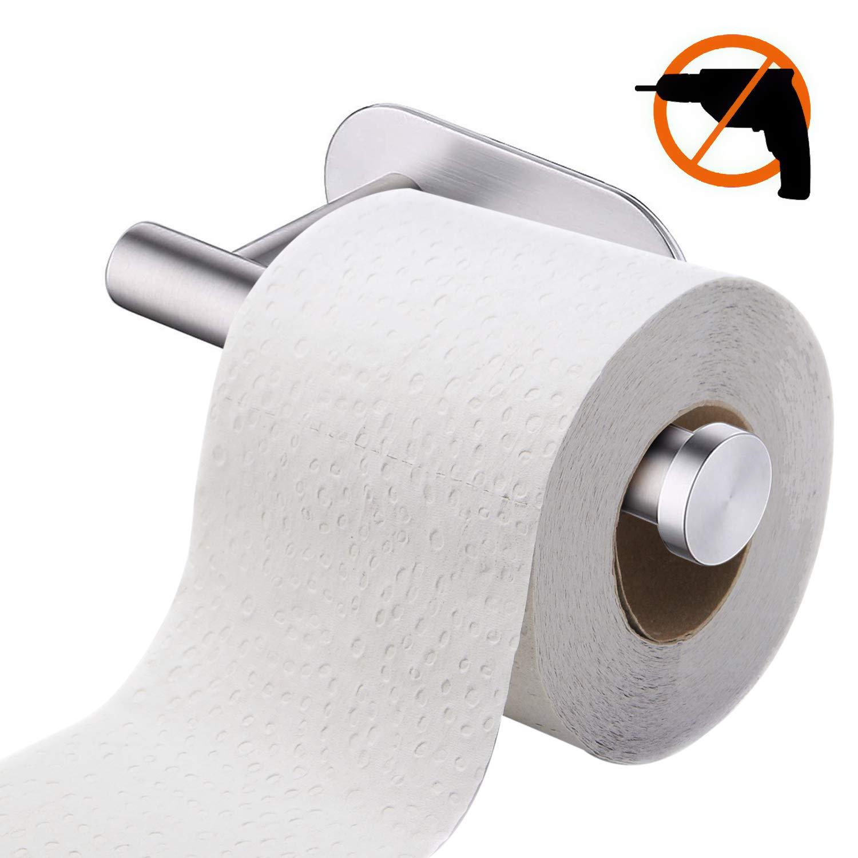 tronisky Toilettenpapierhalter Ohne Bohren Papierhalter Selbstklebend Edelstahl Klopapierhalter Toilette Rollenhalter WC Papier Halterung für Küche und Badzimmer