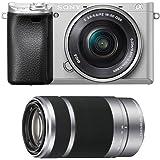 Sony Alpha a6300 Silver Mirrorless Digital Camera Lens Bundle (2 Lens Kit)
