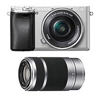 Sony Alpha a6300 Mirrorless Digital Camera Lens Bundle - 2 Lens Kit (Silver)