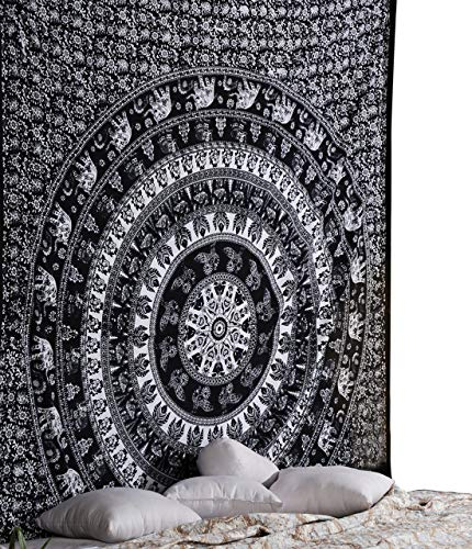 RAJRANG BRINGING RAJASTHAN TO YOU Large Elephant Mandala Tap