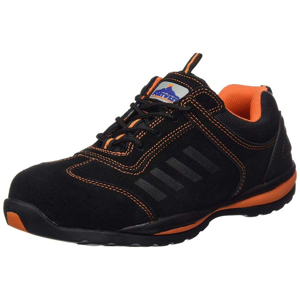 Portwest lusum-zapatos de seguridad S1P FW34 de baloncesto negro Uk 10