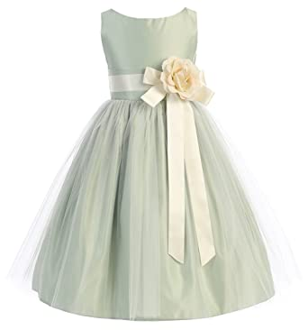 c8d74f5825 Amazon.com  Sweet Kids Big Girls  Vintage Satin and Tulle Dress 10 ...