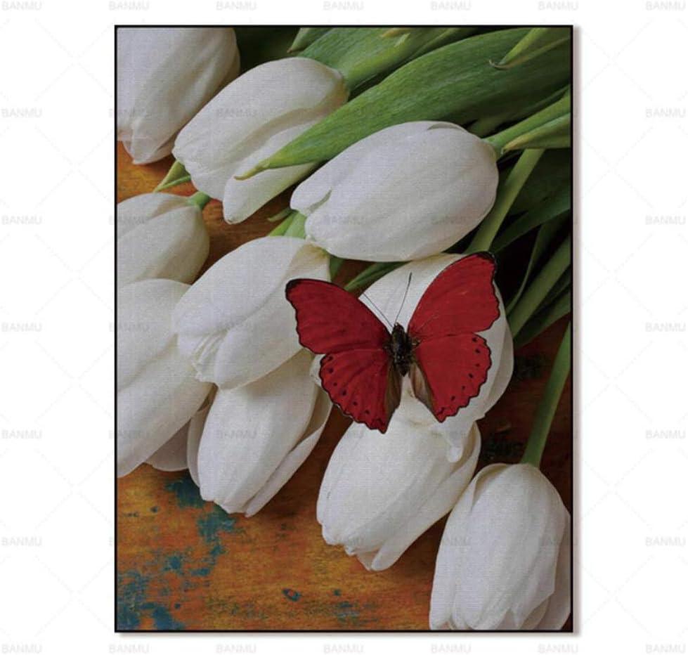 JNZART Pinturas de la Pared Pintura Abstracta Impresiones artísticas Flor sobre Lienzo decoración del hogar para la Sala Cartel de la Pared 40x50cm (15.7