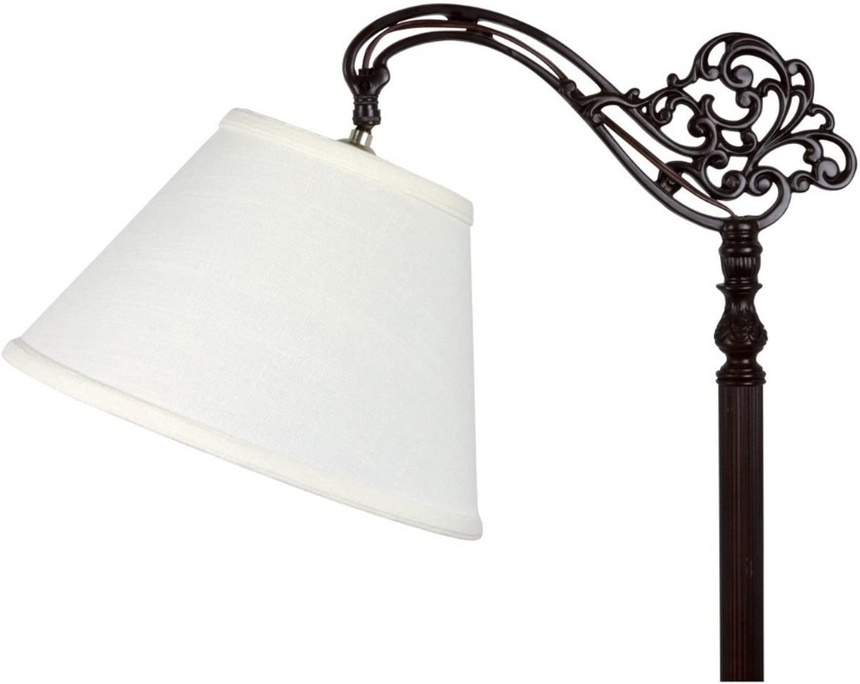 Upgradelights White Linen Empire Lamp Shade with Uno Fitter 6x12x8