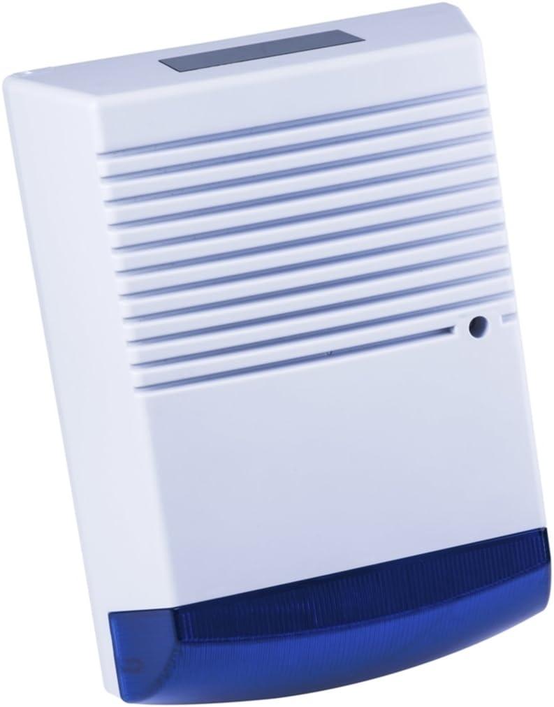 Dummy Alarm Siren Blue Flashing LED Dummy Burglar Alarm Box Solar Powered