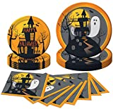 Haunted Halloween Party Pack with Plates, Napkins