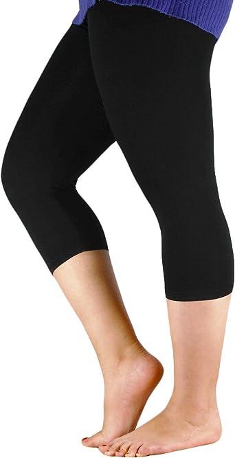 Free Shipping Zerdocean Women/'s Modal Plus Size Basic Solid Color Capri Leggi..