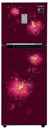 Samsung 253 L 2 Star Frost Free Double Door Refrigerator(RT28N3722R3/NL, RT28N3722R3/HL, Rose Mallow Plum, Convertible, Inverter Compressor)