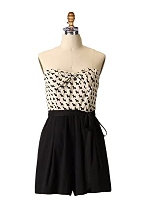 1e65f373c2e Anthropologie Maeve Scottie Romper Jumpsuit Dog Print Dress Size 6 ...