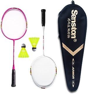 Senston Racchetta di Badminton per Bambini Racchetta di Volano Junior Compreso 2 Racchetta/2 Volani/1 Badminton Racket Bag