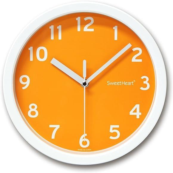 Decowall Silent Smoothie Wall Clock Orange