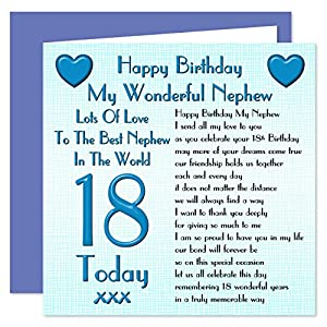 Nephew 18th Happy Birthday Card Lots Of Love To The Best Happy 18 Birthday Wishes For Nephew