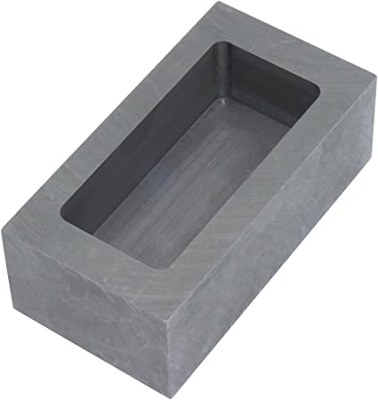 SENRISE Ingot Mold Five Holes Graphite Crucible Refining Graphite Casting Melting Tool for Gold Silver Metal 72x57x12mm