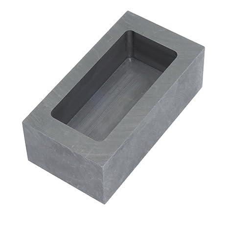 Molde de acero de grafito para derretir lingotes de oro, plata o aluminio