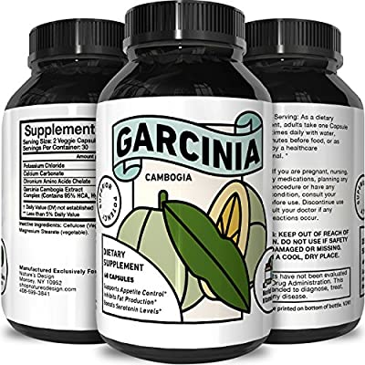 Premium Garcinia Cambogia 95% HCA Pills - Weight Loss Natural Supplement Pure & Potent Extract For Metabolism Increase Exercise Endurance Boost Energy Antioxidant for Women and Men