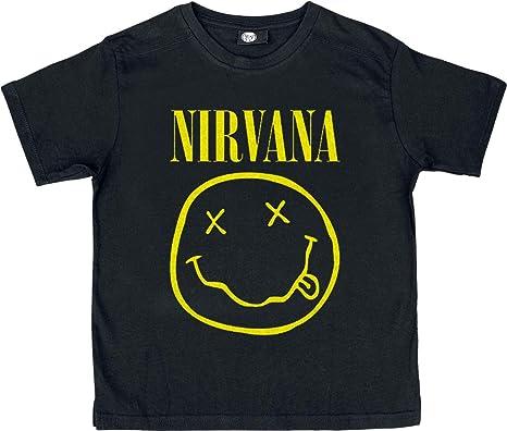 1b22511c Nirvana Smiley T-Shirt Black: Amazon.co.uk: Clothing