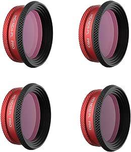 PGY TECH P-UN-027 Filter for Mavic AIR - ND -PL Set PRO (ND4-PL ND8-PL ND16-PL ND32-PL), Black