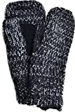 Isotoner Signature Women's Multi Marled Striped Knit Mittens (Black)