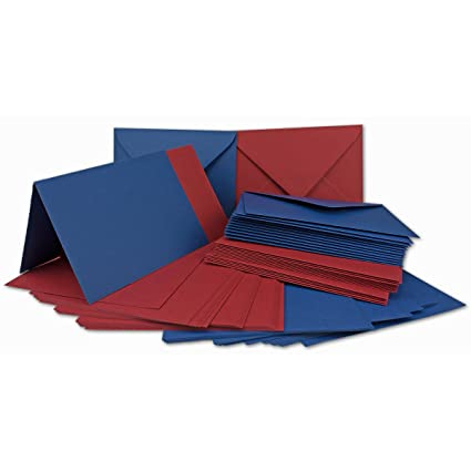 Paquete de tarjetas DIN A6/C6 - rojo oscuro/azul oscuro - Tarjetas ...
