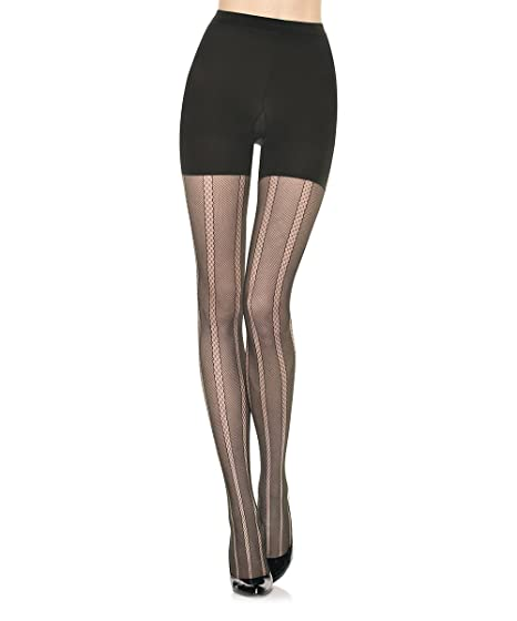 520d1267ce7ee Star Power by SPANX Center Stage Open-Weave Shaping Tights at Amazon ...