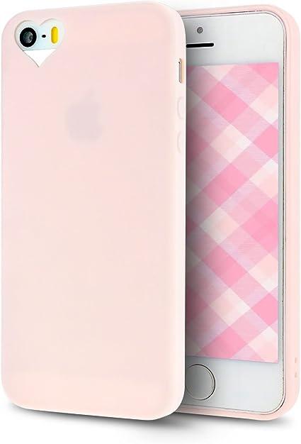 Custodia per Apple iPhone 5S 5 flessibile ROSA Cover Sottile Ultra