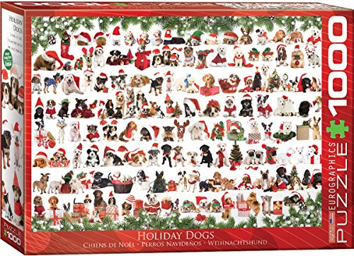 EuroGraphics Christmas Puppies Puzzle (1000 Pieces) - Made in USA