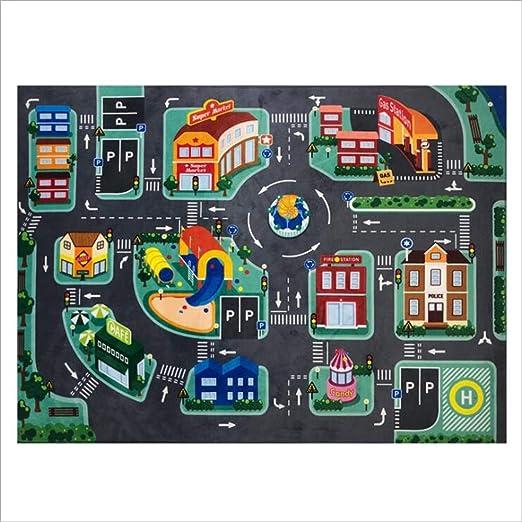 Alfombra de /área de Juego para ni/ños tama/ño 39,3 Pulgadas x 51,1 Pulgadas DUODE Alfombra de Juegos para ni/ños Alfombra y Regalo Educativo de Aprendizaje para ni/ños y dormitorios y Sala de Juegos