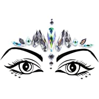 iHeartRaves Silver Princess Festival Face Jewels Beauty Crystal Gem Stickers