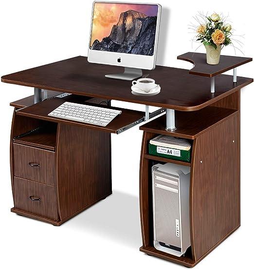 COSTWAY Mesa de Ordenador con Cajones Escritorio Computadora Mesa ...
