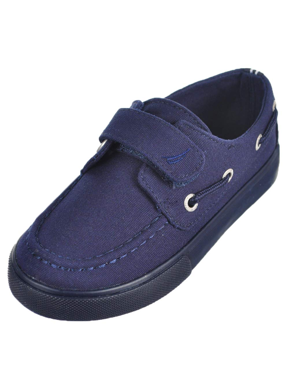 Nautica Boys' River 3 Boat Shoe, New Spore Navy Solid, 11 M US Little Kid