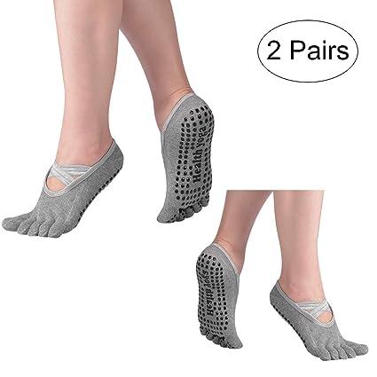 Hivexagon Calcetines de Yoga Antideslizantes de Cinco Dedos ...