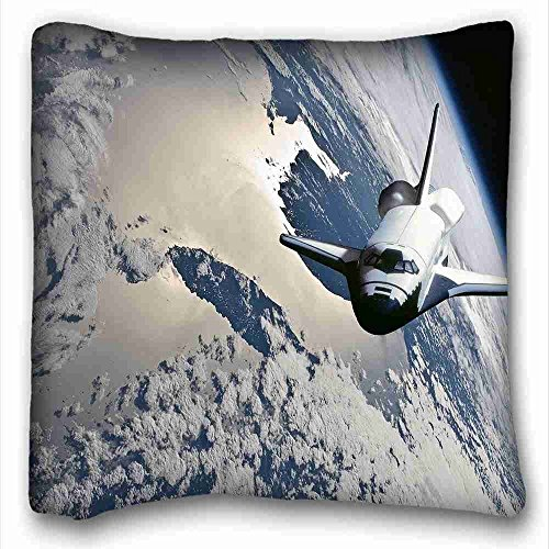 Custom ( Nature Space Earth from Space Space Shuttle ) Pillow Cushion Case Cover One Sides Printed 16x16 Inches suitable for California King-bed