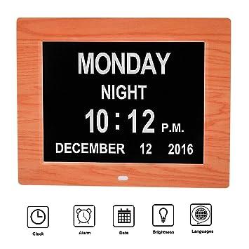 MCB - Reloj-calendario digital con fecha, día y hora, para personas
