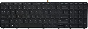 KBR Replacement Keyboard Compatable HP ProBook 450 G3 / 450 G4 / 455 G3 / 470 G3 / ZBOOK15 G3 Laptop Frame US Layout Backlight