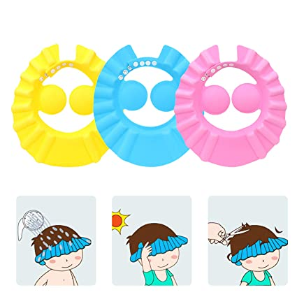 Bathroom Soft Shower Wash Hair Cover Head Cap Hat.for Child Toddler Kids  JP KY