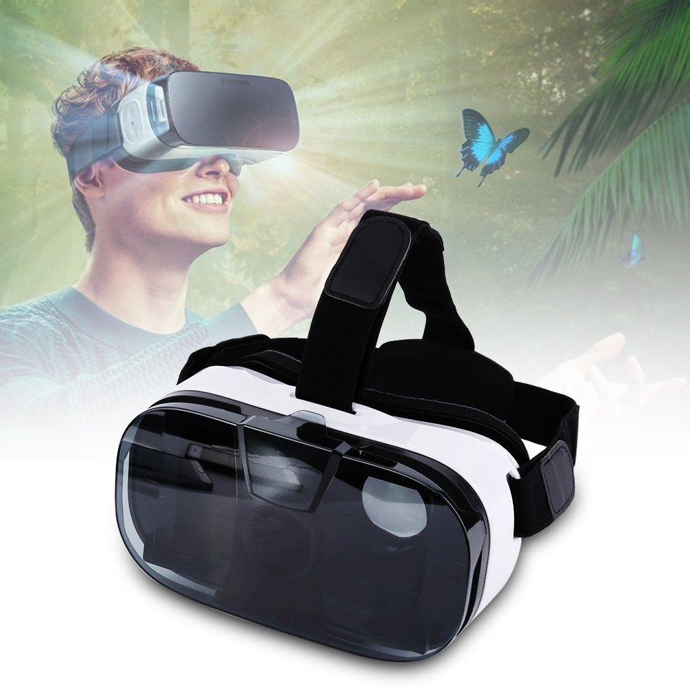 Fosa Virtual Reality VR Headset 3D Glasses Adjustable Goggles For 4.0-6.5'' Android & iOS Smartphones