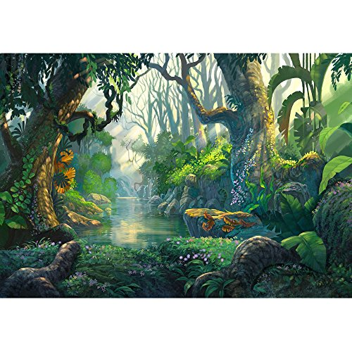 wall26 - Illustration - Fantasy Forest Background Illustration Painting - Removable Wall Mural | Self-Adhesive Large Wallpaper - 100x144 inches by wall26 (Image #1)