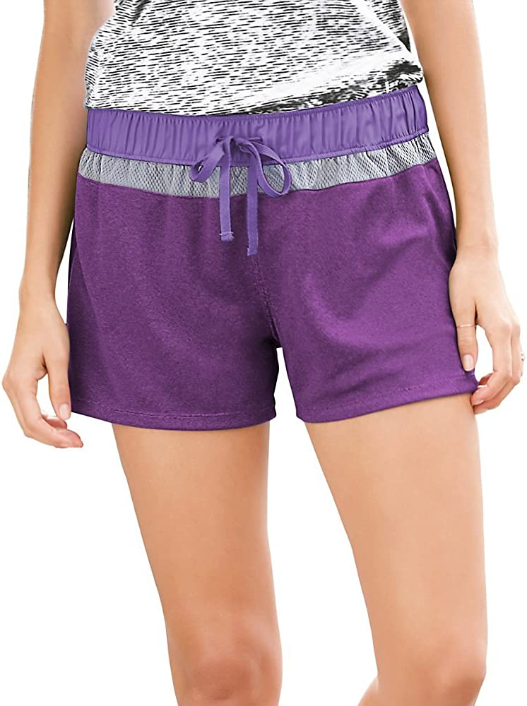 Champion Knit & Woven Women's Shorts M8881, XS, Tripping Purple Heather/Lilac Bl