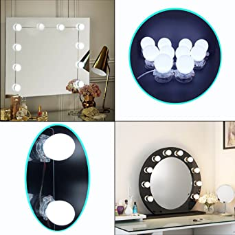 Led vanity mirror light hollywood style makeup dressing vanity led vanity mirror light hollywood style makeup dressing vanity set mirror with 10 led lights aloadofball Images