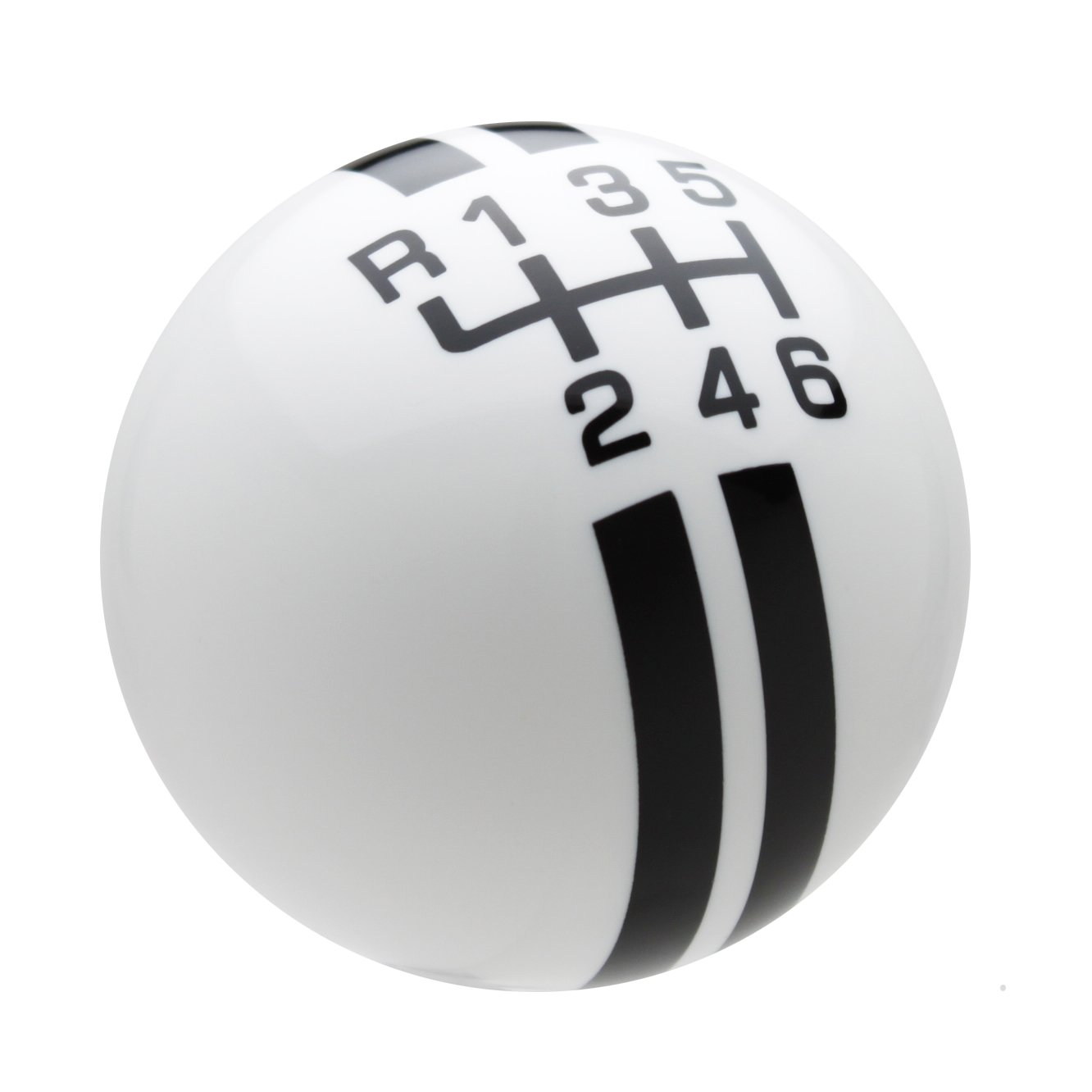 Speed Dawg SK501NL-RY-6RUL Black with Yellow Rally Stripe Shift Knob with 6-Speed Shift Pattern