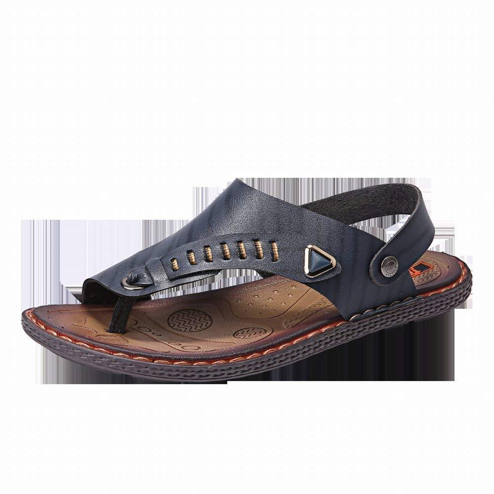 Oudan Oudan Oudan Handgemachte Sandalen und Hausschuhe Mode Städtischen Sandalen Bequeme Atmungsaktive Hausschuhe Alle Spiel Sandalen (Farbe   Blau, Größe   39) 049358