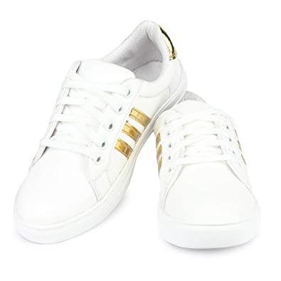competitive price a6718 13c6c Bersache Women White Casual Sneaker Shoes  Buy Online at Low Prices in  India - Amazon.in