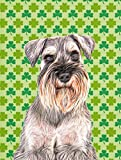 Caroline's Treasures KJ1200GF St. Patrick's Day Shamrock Schnauzer Flag, Small, Multicolor For Sale