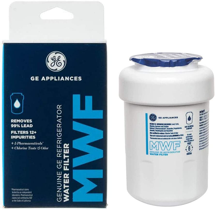 GЕ MWF GE Refrigerator Water Filter Replacement GE MWF Smartwater Filter, 1-Pack